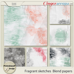 Fragrant sketches Blend papers