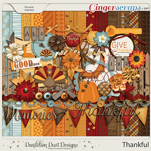 Thankful Digital Scrapbook Kit By Dandelion Dust Designs