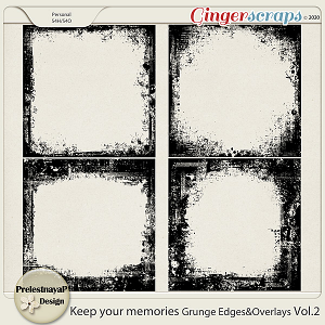 Keep your memories Grunge Edges & Overlays Vol.2