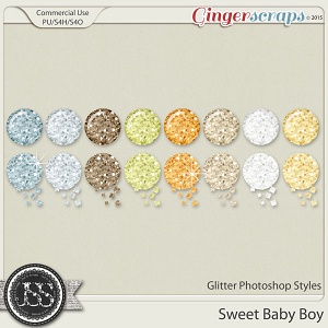 Sweet Baby Boy Glitter Photoshop Styles