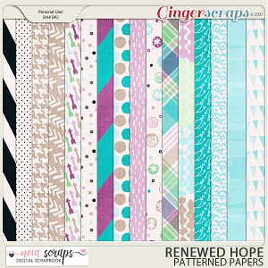 Renewed Hopes - Patterned Papers - by Neia Scraps