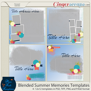 Blended Summer Memories Templates by Miss Fish