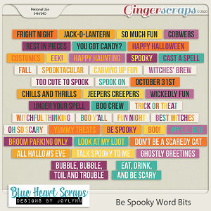 Be Spooky Word Bits Pack