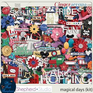 Magical Days Digital Scrapbook Kit by Miss Fish and Shepherd Studios