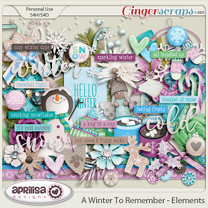 A Winter to Remember - Elements by Aprilisa Designs