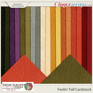 Feelin' Fall Cardstock by Trixie Scraps Designs
