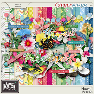 Hawaii Page Kit by Aimee Harrison