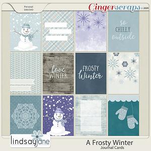 A Frosty Winter Journal Cards by Lindsay Jane