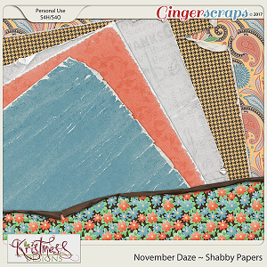 November Daze Shabby Papers