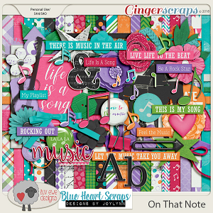 On That Note Kit by Luv Ewe Designs and Blue Heart Scraps