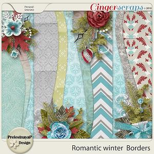 Romantic winter Borders