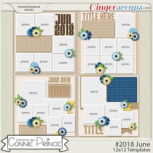 #2018 June - 12x12 Template Pack (CU Ok) by Connie Prince
