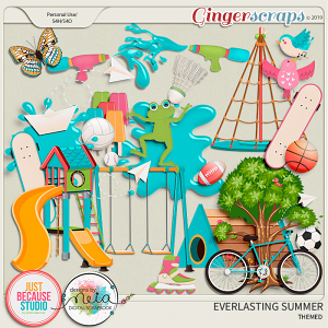 Everlasting Summer Themed Elements by JB Studio and Neia Scraps