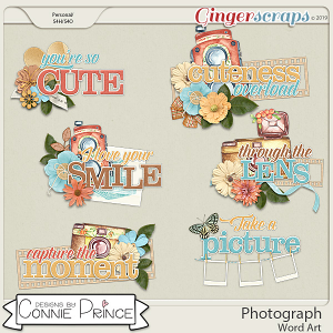 Photograph - Word Art Pack by Connie Prince