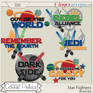 Star Fighters - WordArt Pack by Connie Prince