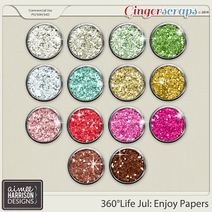 360°Life July: Enjoy Glitters by Aimee Harrison