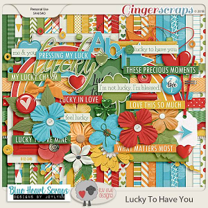 Lucky To Have You Kit by Luv Ewe Designs and Blue Heart Scraps