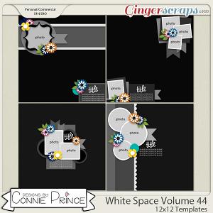 White Space Volume 44 - 12x12 Temps (CU Ok) by Connie Prince