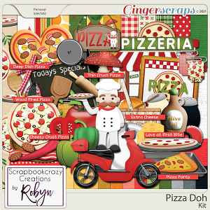 Pizza Doh Kit by Scrapbookcrazy Creations