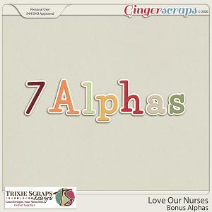 Love Our Nurses Bonus Alphas by Trixie Scraps Designs