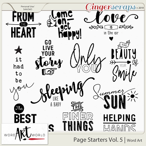 Page Starters Vol. 5 Word Art