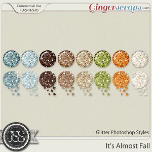 It's Almost Fall Glitter Photoshop Styles