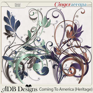 Coming To America Flourishes by ADB Designs