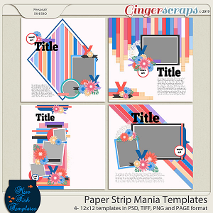 Paper Strip Mania Templates by Miss Fish