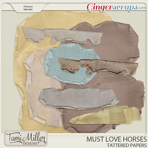 Must Love Horses Tattered Papers by Tami Miller Designs