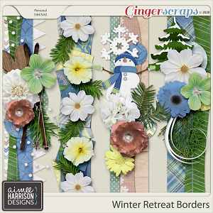 Winter Retreat Borders by Aimee Harrison