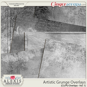 Artistic Grunge Overlays Vol. 1 - CU by Alexis Design Studio