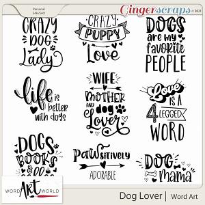 Dog Lover Word Art