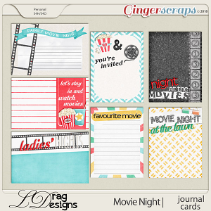 Movie Night: Journal Cards by LDragDesigns
