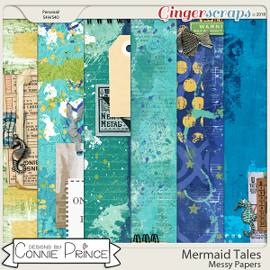 Mermaid Tales - Messy Papers by Connie Prince