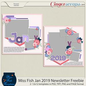 Miss Fish Newsletter Freebie -Jan 2019