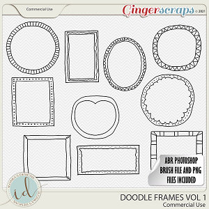 CU Doodle Frames Vol 1 by Ilonka's Designs