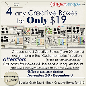 Special Black Friday 2020 Grab Bag 4 - Buy 4 Creative Boxes for $19