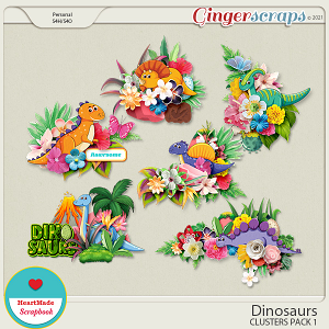 Dinosaurs - clusters pack 1