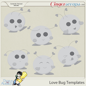Doodles By Americo: Love Bug Templates