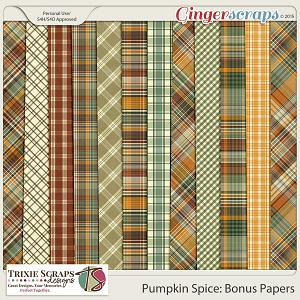 Pumpkin Spice Bonus Papers by Trixie Scraps Designs