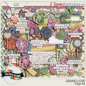 Grand Love Page Kit by Lisa Rosa Designs