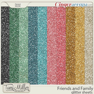 Friends and Family Glitter Sheets by Tami Miller Designs
