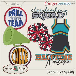 We've Got Spirit Commercial Use Templates by Scraps N Pieces
