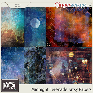 Midnight Serenade Artsy Papers by Aimee Harrison
