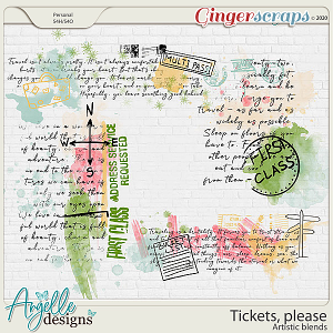 Tickets, please. Artistic blends by Angelle Designs