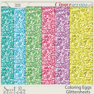 Coloring Eggs Glitter Sheets