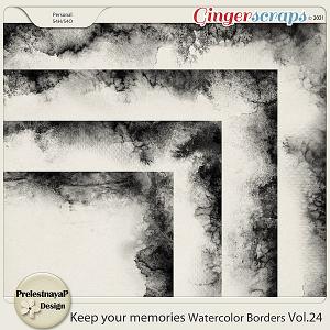 Keep your memories Watercolor Borders Vol.25