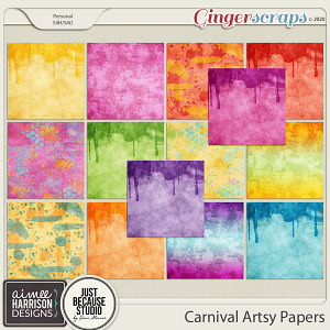 Carnival Artsy Papers by Aimee Harrison and JB Studio