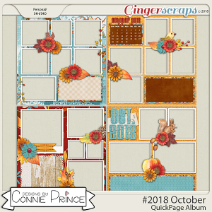 #2018 October - Quick Pages by Connie Prince