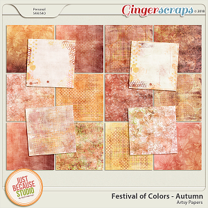 Festival of Colors Autumn Artsy Papers by JB Studio